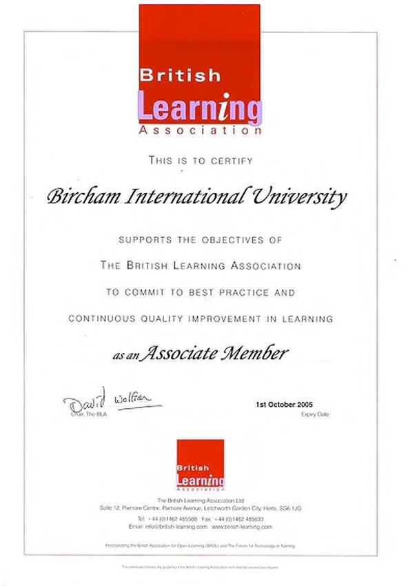 BLA - The British Learning Association
