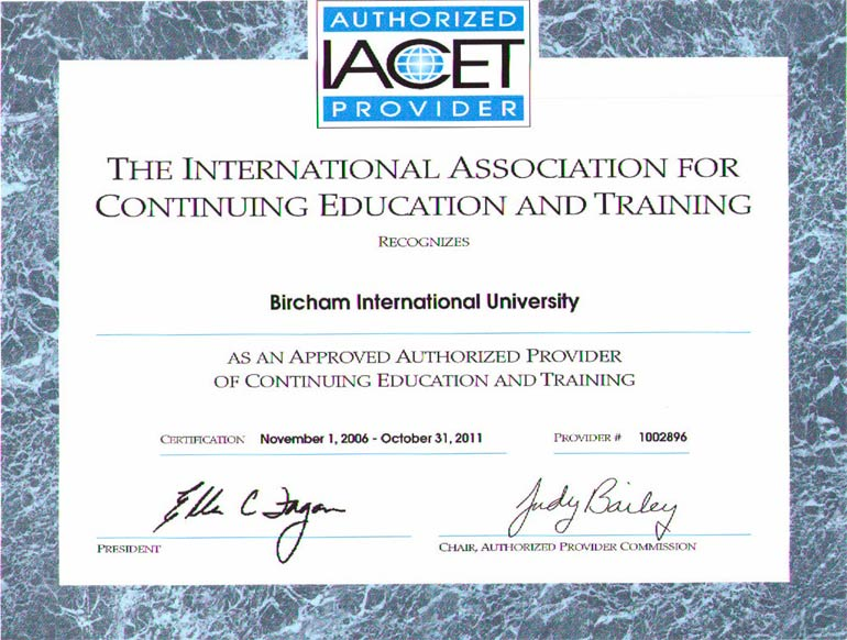IACET - International Association for Continuing Education & Training