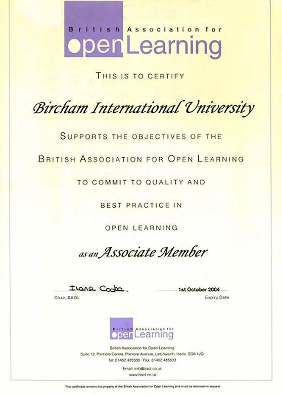 BAOL - The British Association for Open Learning