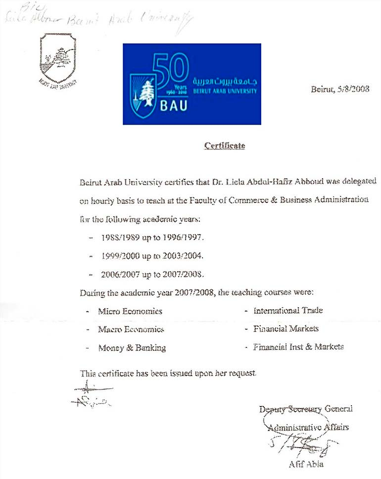 BAU - Beirut Arab University