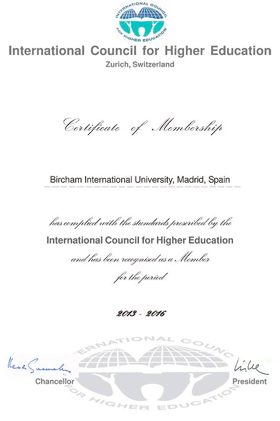 ICHE - International Council for Higher Education