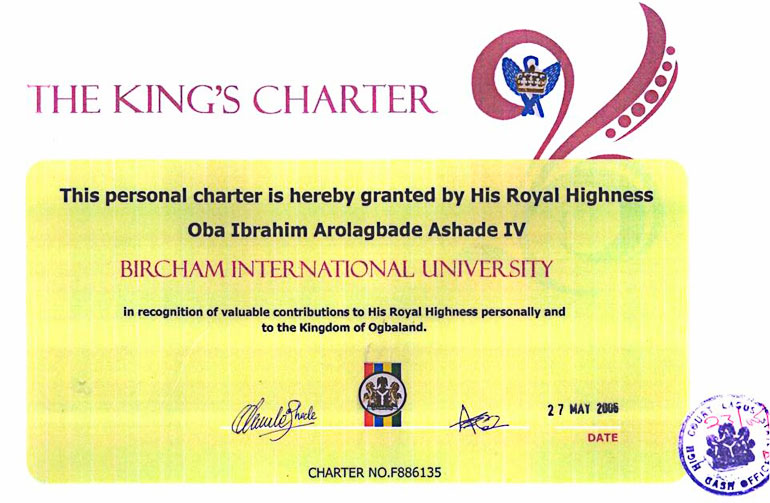 UK Ogba Kingdom Royal Charter