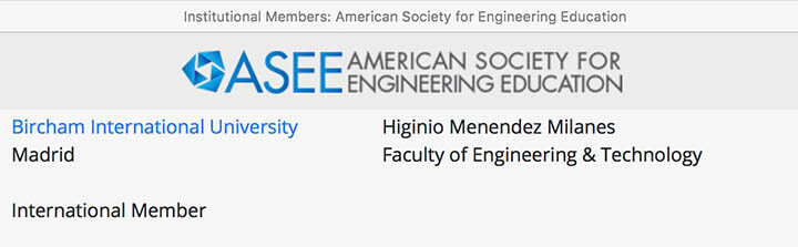 Bircham University ASEE - American Society for Engineering Education