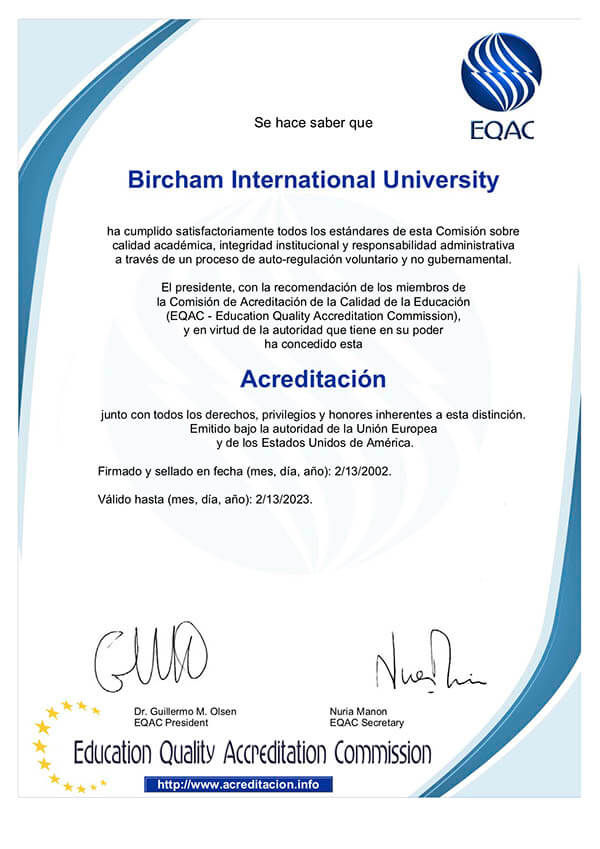 Bircham University EQAC - Educational Quality Accrediting Commission