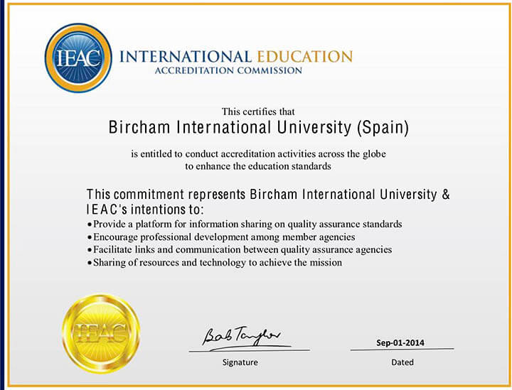 Bircham University IEAC - International Education Accreditation Commission
