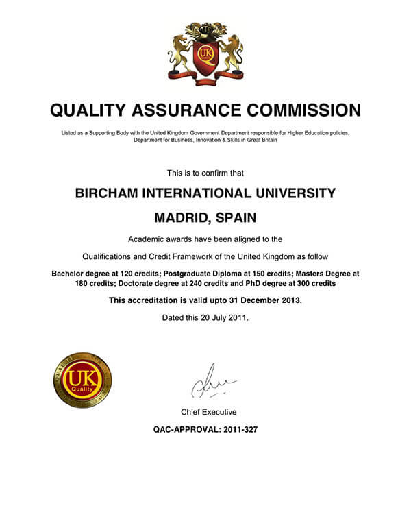 Bircham University QAC - Quality Assurance Commission